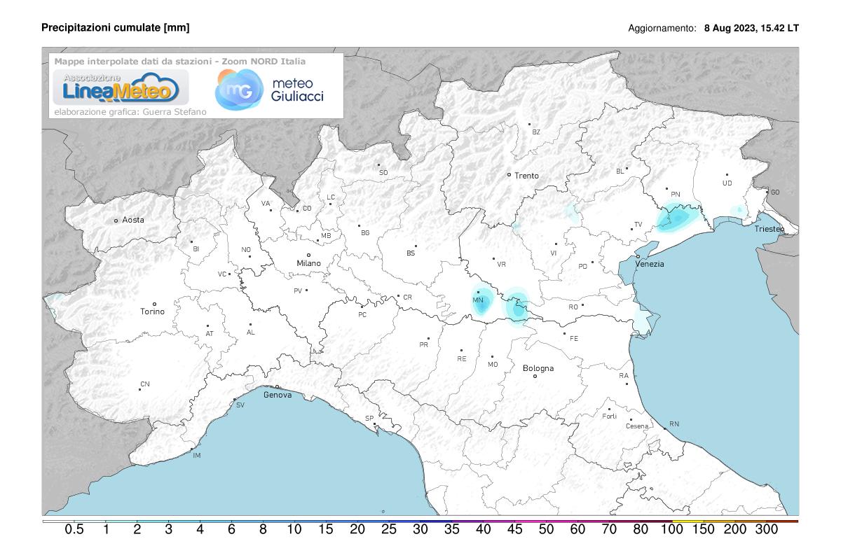 Precipitazioni, settore Nord